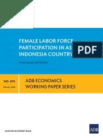 ADB Report on Female Labor Participation