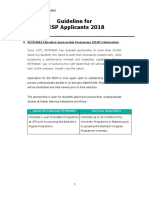Guideline for PESP Applicants 2018