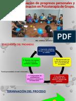 Desarrollo Evaluación de Progresos Personales y Grupales y Terminación en Psicoterapia de Grupo.