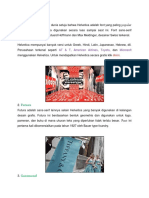 Fonts Desain Majalah