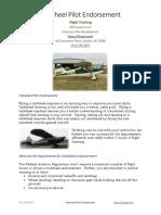 Tailwheel Pilot Endorsement