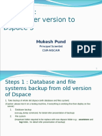 2 Migration From Older Version of DSpace to DSpace 5