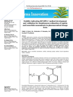 Stability indicating RP-HPLC method development and validation for simultaneous estimation of aspirin and isosorbide mononitrate in pharmaceutical dosage form