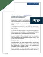 $PIMCO Clarida El-Erian Uncertainty Changing Investment Landscape 8-2-10