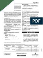 Ezr Pressure Reducing Regulator Installation Guide Es 138452