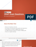 CBAP Exam Questions | CBAP Practice Test