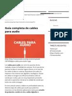 Guía Completa de Cables Para Audio