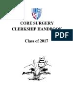 Surgery Handbook Class of 2017
