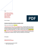 D-Student Declination Letter Template