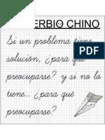 Proverbio Chino Del Problema