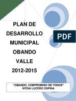 Plan de Desarrollo 2012 2015 Obando