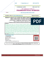 DESIGN AND EVALUATION OF MINI-TABLETS - PULSATILE DRUG DELIVERY SYSTEM OF RAMIPRIL