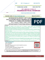 METHOD DEVELOPMENT AND VALIDATION OF DACLATASVIR IN BULK & PHARMACEUTICAL DOSAGE FORM BY UV-VISIBLE SPECTROPHOTOMETRY