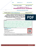 SIMULTANEOUS ESTIMATION OF TELMISARTAN, CHLORTHALIDONE AND CILNIDIPINE BY ABSORBANCE CORRECTION METHOD USING UV SPECTROPHOTOMETRY