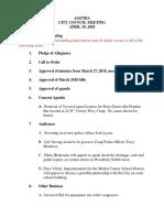 April 10 City Council Agenda