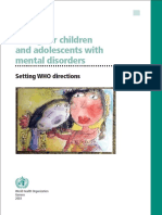 Caring for children and adolescents with mental diorders