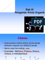 Bab XI Pengantar Kimia Organik