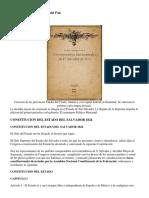 1824 Primera Carta Magna Del Pais