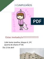 Invitacion Del Cumpleaños de Esperanza