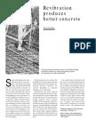 Revibration Produces Better Concrete