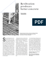 Revibration Produces Better Concrete