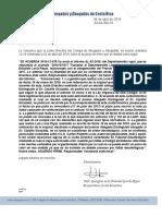 Acuerdo firme de Junta Directiva del Colegio de Abogados, JD-04-384-18, del 4 de abril de 2018