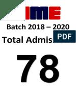 Batch 2018 - 2020
