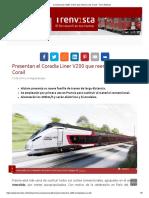 Coradia Liner V200, El Tren Que Retirará a Los Corail