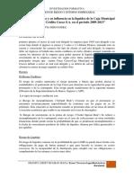 El Riesgo de Crédito y Su Influencia en La Liquidez de La Caja Municipal de Ahorro y Crédito Cusco S