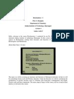 Biochemistry - I - Lec 01