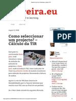 JPereira.eu - Como selecionar um projeto pela TIR (Wikipedia cita).pdf
