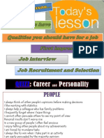 Recruitment and Selection Job Interviews