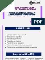 Tema Fiscalización Laboral y Actuaciones Inspectivas