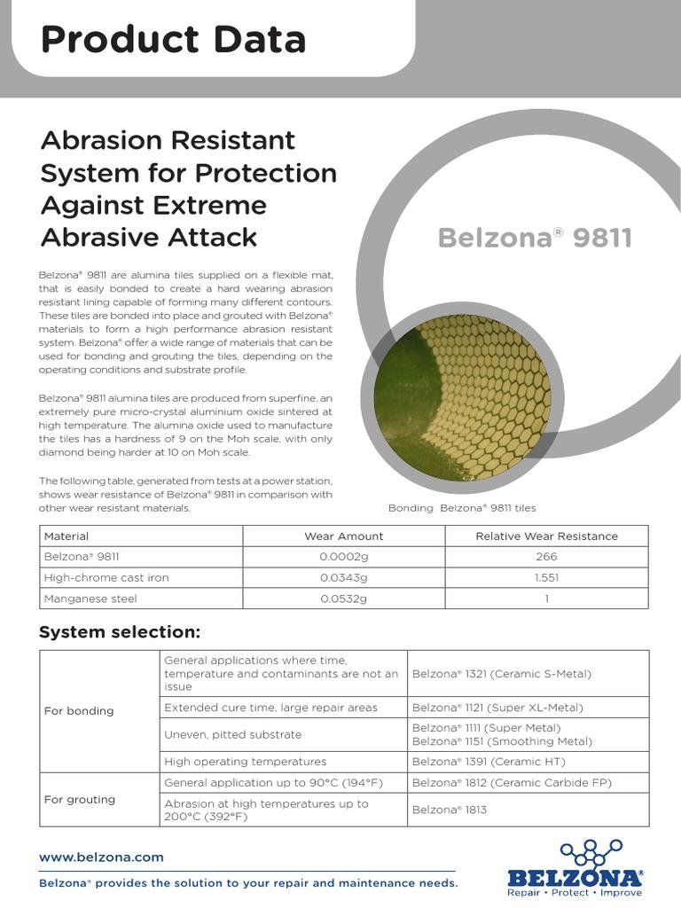 Belzona 9811 | Aluminium Oxide | Wear