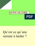 Questions Quincaillerie