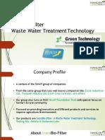 TransBio-filter Sewage Treatment Plant Presentation
