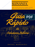Guia Rápido Da Cidadania Italiana
