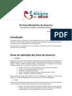 Os cinco ministérios areas e desenvolvimento