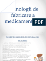 Tehnologii de Fabricatie a Unui Medicament