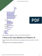 How to Auto Shutdown in Windows 10