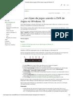 Game DVR (Cartura e Gravação de Tela)