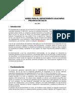 Programa Ganadero Departamento Guachipas, Salta. Argentina. 2015