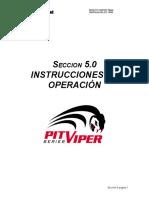 Seccion 5 Instrucciones de Operación