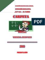 Programación Anual Primaria 2016 1º y 2º Huachuma