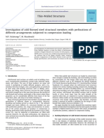 Investigation of Cold-Formed Steel Structural Members With Perforations of Different Arrangements Subjected to Compression Loading