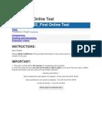 U2 Second Online Test