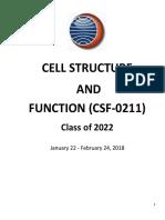 CSF 0211 Study Guide Class of 2022