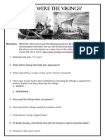 Fury From the North Viking Video Worksheet