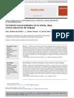 Correlación Neuroradiologica de Las Afasias