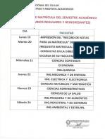 Cronograma 2018A - Reingresantes y Regulares-1